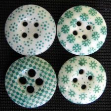 GREEN CHINA CALICO BUTTONS!