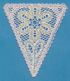 Flower Bunting (Battenburg Lace) design (H2740) from www.Emblibrary.com