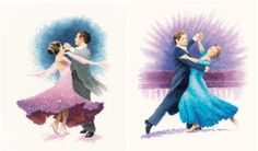 American Smooth & Viennese Waltz - John Clayton Dancers cross stitch set.