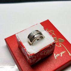 174 mm Ring Silber 925 teils diamantiert gearbeitet edel