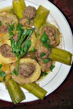 The Teal Tadjine   A Mélange of Cooking and Culture in the Algerian Mediterranean Basin and Beyond: Dolma batatas wa qarâa   Algerian stuffed potatoes and courgettes