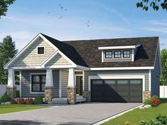 031H-0396: 2-Bedroom Bungalow House Plan for Empty-Nesters; 1584 sf
