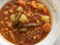 Hamburger Soup Recipe | really love this soup recipe it is more of a fall soup thick and ...