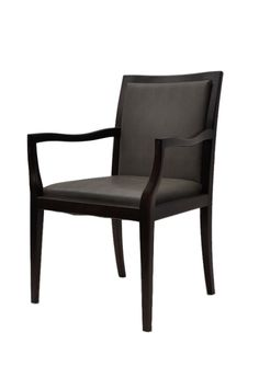 José António Andrade Interiors - Furniture Design - Chairs Dark wood, dark leather fabric