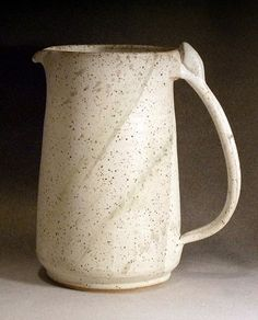 Pitcher - Ice Tea, Lemonade, Sangria - Soft White with Sage Green Splatters - Spring - Fresh - Natural on Etsy, $40.00