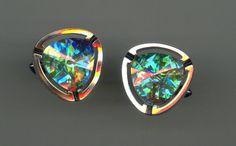 1950s Cuff Links with FANTASTIC Rhinestones in by Jewelboy on Etsy