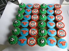 Liverpool Football Club themed Chocolate Cupcakes
