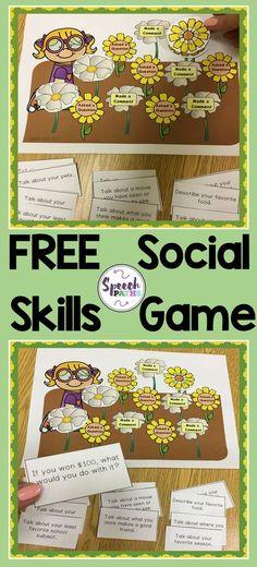 FREE printable game to help students work on conversation skills.