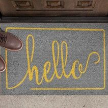 Welcome guests at your door with on-trend functional doormats with fun color, patterns and statements! Made of sustainable materials in natural coir or recycled rubber, ecoTrend doormats offer scraping or absorbing benefits to minimize dirt indoors. Recycled Rubber, Coir, Doormats, Carbon Footprint, Front Door Decor, Color Patterns, Sustainability, Floors, Innovation