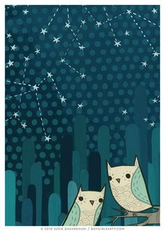 Starry Owl Art Print (No. 2)