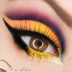Matte eyeshadows are a statement all on their own.  Top it off with a thick liner and you'll be the center of attention with this striking look!