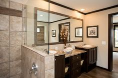 The Patriot | Clayton Homes - Master Bath - Double Vanity. I'm good with this layout and will only decorate.