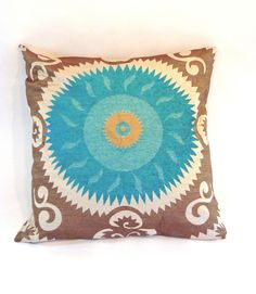 Emperors Sun Turquoise Pillow design by Baxter Designs