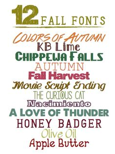 12 Free Fall Fonts  ~~ {w/ easy download links}