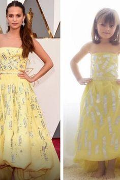 A 6 ans, elle recrée les robes des Oscars 2016 avec du papier Cute Dresses, Prom Dresses, Formal Dresses, Paper Dresses, Robes D'oscar, Versace, Oscar Dresses, Red Carpet Dresses, Frocks