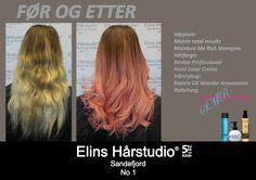 Lys blond hår mørk bunn til mørk bunn rosa hårlengder fargekur
