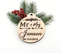 MDF Laser Cut Christmas Bauble Tree Decoration In Loving Memory Granda