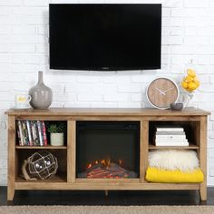 Found it at Wayfair - McCall TV Stand with Electric Fireplace-black