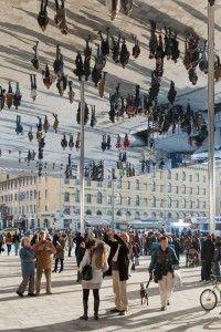 Norman Foster's Vieux Port Pavilion - Marseille. Great idea for public space Norman Foster, Urban Landscape, Landscape Design, Landscape Architecture, Architecture Design, Canopy Architecture, Foster Architecture, Jüdisches Museum, Parks
