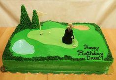 golf decorated cake | Golf Themed Birthday Cake
