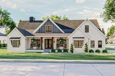 Plan Exclusive Modern Farmhouse Plan with Fantastic Master Suite - If you're looking for a Modern Farmhouse style plan that is loaded with features, look no farther - Modern Farmhouse Exterior, Modern Farmhouse Style, Modern Farmhouse Floor Plans, Rustic House Plans, Victorian Farmhouse, Country House Plans, Coastal Farmhouse, Industrial Farmhouse, Farmhouse Homes