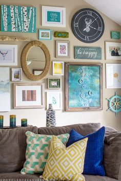 How to Create a Massive Gallery Wall filled with DIY projects and upcycled finds | upcycledtreasures.com