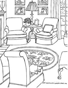 casei coloring pages | Preschool colouring My-bedroom | Misc. | Bedroom, Coloring ...