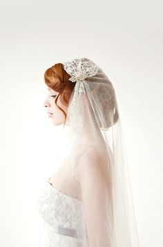 SIBO Designs Juliet Cap Veil on Etsy