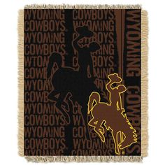 Wyoming Cowboys Jacquard Throw Blanket by Northwest, Multicolor