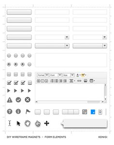 Wireframing magnets for whiteboard prototyping. Good call.