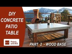 Part 2. How to make a Concrete Coffee Table for the Patio (Wood Base) - YouTube