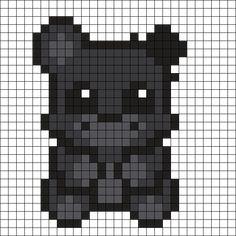 Shadow Freddy Perler Bead Pattern