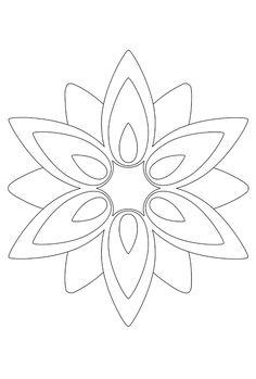 kleurplaat bloem aster - Google zoeken