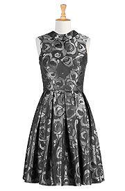 Jacquard Cocktail Dress.  Sizes 0-36W.