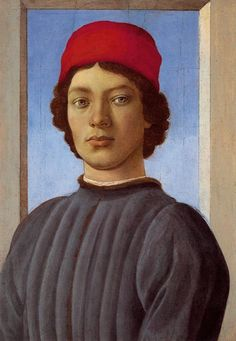 SANDRO BOTTICELLI ( 1445 - 1510) | Portrait of a Man with Red Cap.