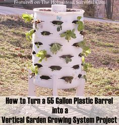 009 475x500 How To Create A Vertical Garden Planter From A 55 Gallon  Plastic Barrel Project