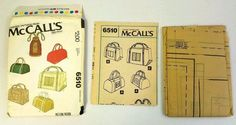 Vintage McCall's Norton Simon Inc 6510 Set of 3 Bag Styles Uncut 1979 #McCalls #Bag