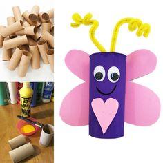 Toilet roll holder/craft roll love bug crafts for Valentine's Day. Toilet Roll Holder Crafts, Toilet Roll Craft, One Banana, Frozen Banana, Easy Valentine Crafts, Valentines, Mango Syrup, Royal Brides, Vegan Crackers