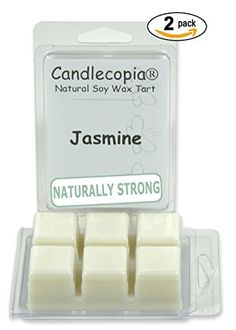 Candlecopia Jasmine 6.4 oz Scented Wax Melts - The singularly seductive floral fragrance of the night - 2-Pack of naturally strong scented soy wax cubes throw 50+ hours of fragrance when melted in Scentsy®, Yankee Candle® or standard electric tart warmer Candlecopia http://www.amazon.com/dp/B00U1DF8U8/ref=cm_sw_r_pi_dp_homfvb1CBXZV1
