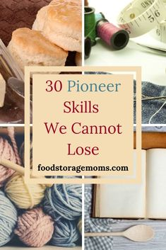 There are 30 pioneer skills we cannot lose at the very minimum I want to address today. Here's the deal, I grew up sewing my own clothes, making bread, canning food, and gardening. sew einfach clothes crafts for beginners ideas projects room Survival Food, Homestead Survival, Survival Prepping, Survival Skills, Survival Shelter, Survival Quotes, Wilderness Survival, Prepper Food, Survival Essentials
