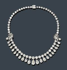 AN ELEGANT DIAMOND FRINGE NECKLACE, EICHBERG & COMPANY