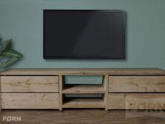 Steigerhouten TV-meubel met laden