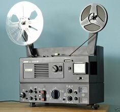 Super 8 home movies and educational films were shown on these simple projectors. While they are still used in some schools, they have been largely replaced by digital projectors and the fact that you can now burn most home movies to a DVD. Radios, Home Movie Projector, Movie Camera, Old Computers, Home Movies, Gadgets And Gizmos, Retro, My Memory, Childhood Memories