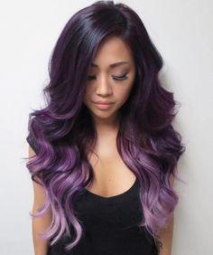 Dark Purple to Light Purple Ombre Hair
