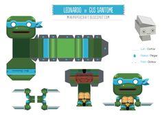 Mini papertoy 'Leonardo' (Tortues Ninja) | Papertoys, Papercraft ...