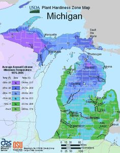 plant hardiness zone map of michigan