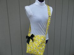 Yellow Snoopy and Woodstock Crossbody Novelty Bag by OMGDesigns