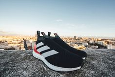 adidas Soccer has unveiled a limited-edition colorway of its ACE 16+ Ultra Boost silhouette, reminiscent of the Three Stripes' OG Predator football boots.