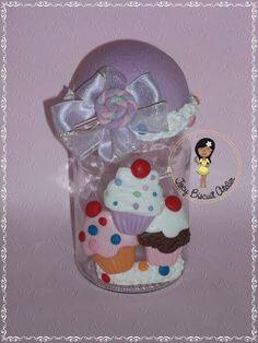 Pote em biscuit para doces ou bombons