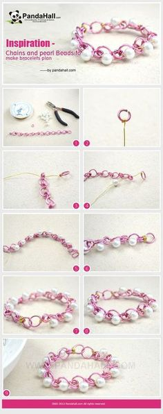 Jewelry Making Tutorial-How to Make a Pearl Beads Bracelet with Chain | PandaHall Beads Jewelry Blog